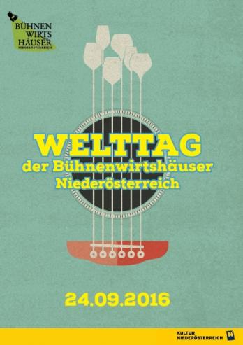 Welttag der Bühnenwirtshäuser Niederösterreich am 24. September